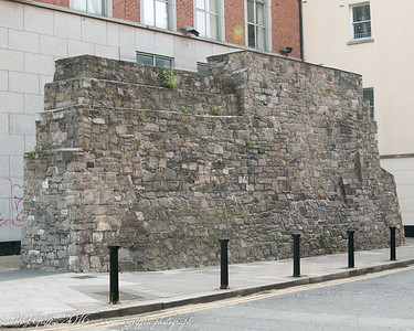 A portion of the original midevil era wall that once surrounded Dublin.