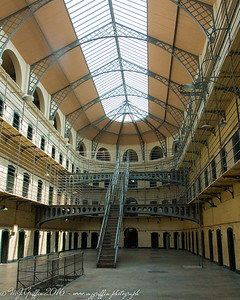 From inside the Kilmainham Gaol in Dublin.