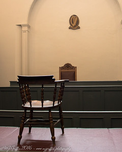 The courtroom at the Kilmainham Gaol.