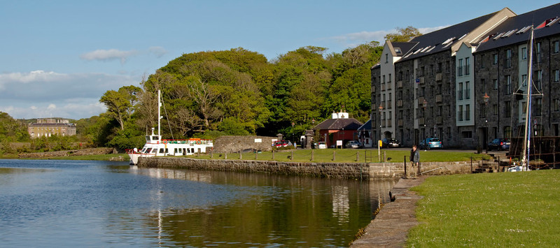 Westport House and quay, Wesport, Co Mayo, 10 May 2009.