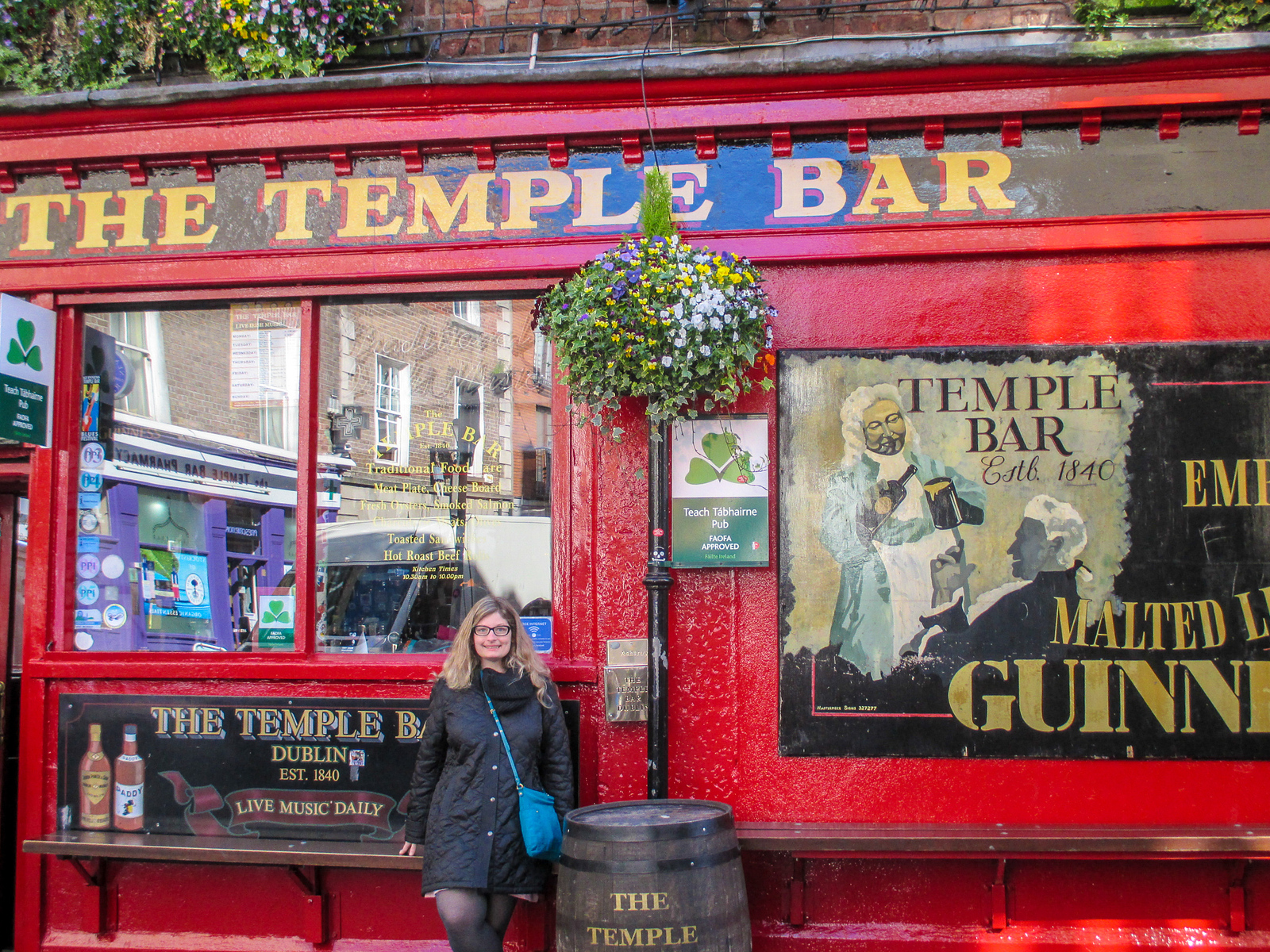 one of my tips for traveling to europe for the first time is not to be scared to go to popular bars, like temple bar, alone