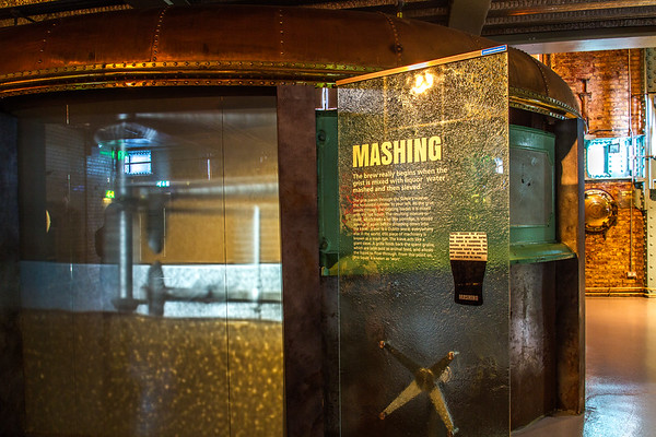 Guinness  Brewery - Mashing tank and signs - Dublin Ireland