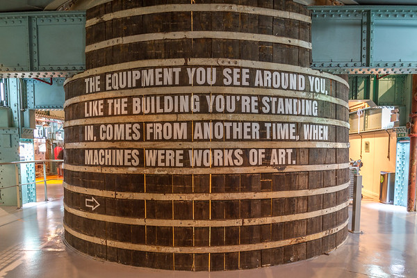 Guinness  Brewery - Old Steam Vat with sign - Dublin Ireland