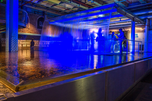 Guinness Brewery - Blue waterfall and penny lake - 2 - Dublin Ireland