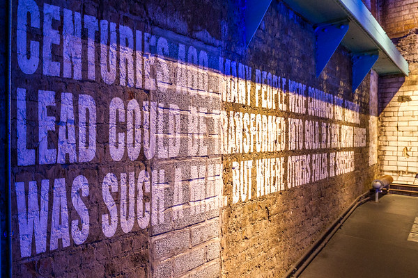 Guinness  Brewery - Wall sign by water - Dublin Ireland
