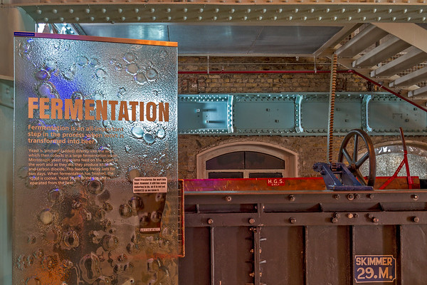 Guinness  Brewery - Fermentation Area and Sign - Dublin Ireland