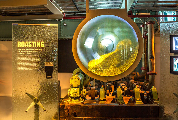 Guinness Brewery - Roasting machine and signs - Dublin Ireland