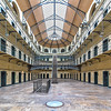Kilmainham Gaol courtyard and staircases in the main prison block - Dublin Ireland