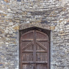 Kilmainham Gaol exterior door from inside the executioners courtyard - portrait - close-up - Dublin Ireland