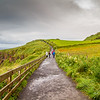 Pathway to Carrik A Rede  under a cloudy sky - Ballintoy, County Antrim Northern Ireland
