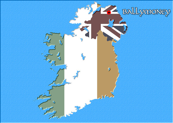 Irish map - landscape - Northern Ireland - Ballymoney