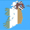 Irish map - landscape - Northern Ireland - Belfast