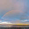 Double Rainbow over the Dublin Bay - Dublin Ireland - large panorama
