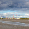 ESB Poolbeg Generating Station Dublin County Fingal over  Dublin Bay - Dublin Ireland