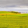 Village and fields leading to the Causeway Coast County Antrim - Northern Ireland - slightly smaller