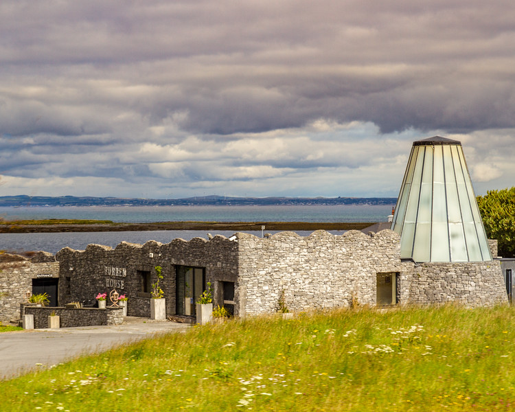 Burren House - with wind turbines in far background