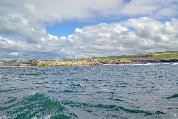Pier at Doolin's Harbour from the Atlantic Ocean in County Clare - Ireland