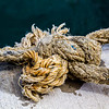 Sailors knot in a rope - Doolin Harbour  County Clare - Ireland