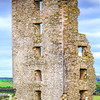 Dough Castle Ruins in Lahinch County - Ireland - Closer side view