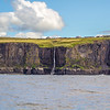 Cliffs of Moher waterfall seen from the ocean in County Clare - Ireland - 3