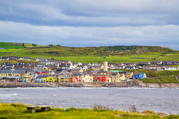 Looking across Liscanor Bay to Lahinch County Clare - Ireland - 2