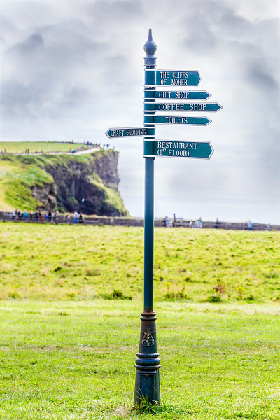 Sign at the Cliffs of Moher in COunty Clare - Ireland