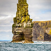 Branaunmore sea stack against Cliffs of Moher County Clare - Ireland
