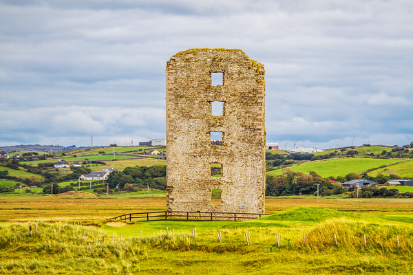 Dough Castle Ruins in Lahinch County - Ireland