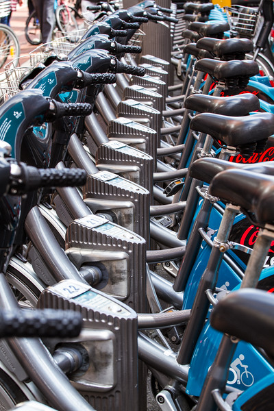 Rent A Bike - seats stations and handlebars - in Dublin Ireland