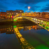 Ha'Penny bridge lit up during blue hour - 2 - Dublin Ireland