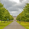 Tree lined path to the Irish Museum of Modern Art - Dublin Ireland - landscape