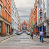 Looking down Dames Street at Dunnes Stores - Dublin Ireland