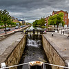 Sluice gates on Grand Canal from Richmond St Dublin
