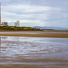 Dublin Bay Panorama looking at Poolbeg Generating station - Dublin Ireland