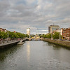 Dublin - Liffy river panorama