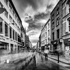 Ghost street - looking down Grafton St from Cnr Chatham St Dublin - BW
