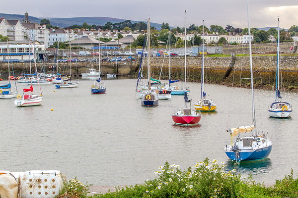 Sail Boats in the bay at St Michaels Rowing Club in Dun Laoghaire County - Dublin Ireland - 2