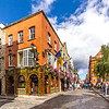 Essex St and Fownes St - Temple Bar area - Quays Bar and Restaurant - Dublin Ireland