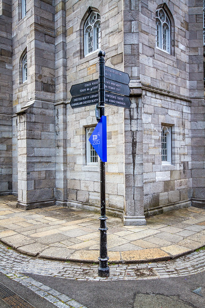 Sign post outside Dublin Castle - Ireland