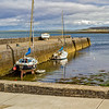 2 boats tied up in Galway harbour - Ireland