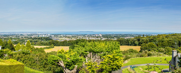 View of Dun Laoghaire Harbour, Dún Laoghaire-Rathdown, and downtown Dublin from Wicklow mountains - Ireland - slightly smaller
