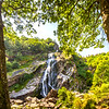 Powerscourt Waterfall - framed by trees - County Wicklow Ireland