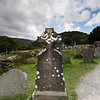 Ancient Celtic Cross Tombstone - Monastic Village Glendalough