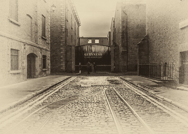 Guinness brewery - St James gate Dublin - Old Sepia