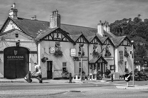 Mac's Pub and Powerscourt Arms in Enneskerry County Wicklow - Ireland - BW
