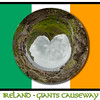 Giants causeway round world - in Irish flag with writing-2