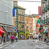 Looking down Stephen Street Lower towards the Hairy Lemon Bar and Restaurant - Dublin Ireland