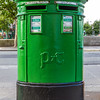 Green Irish Post Box - double wide