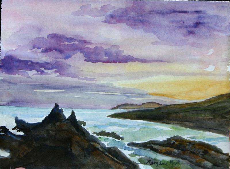Sunset At Saint Finnan Bay