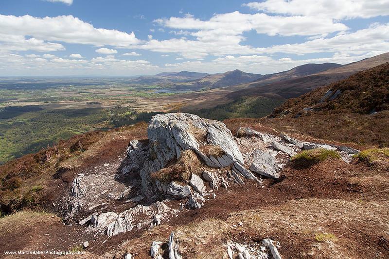 Lough Guitane (view from Torc Mountain), Killarney National Park, Killarney, Kerry, Ireland.